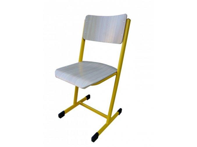 Školní žákovská židle pevná, T profil