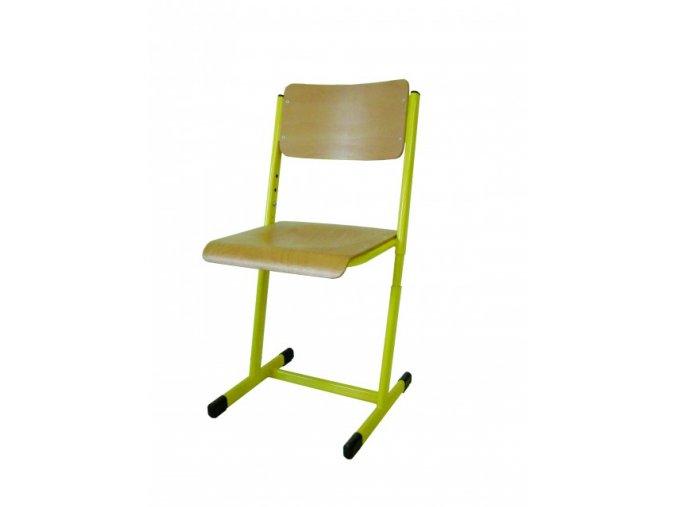 Školní žákovská židle stavitelná, T profil
