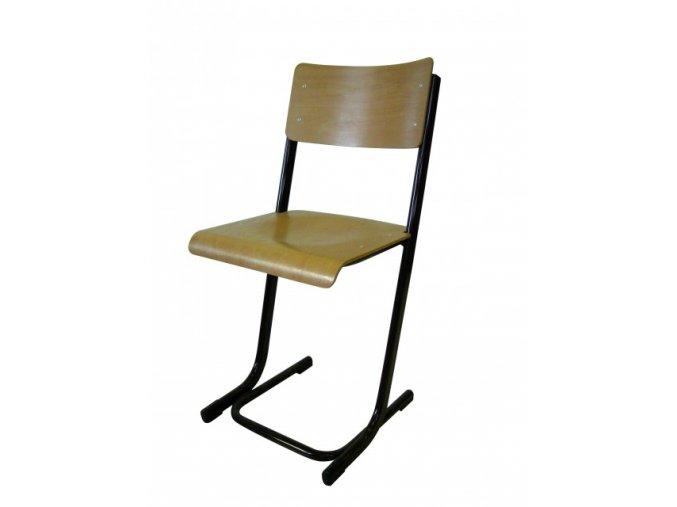 Školní žákovská židle pevná, L profil