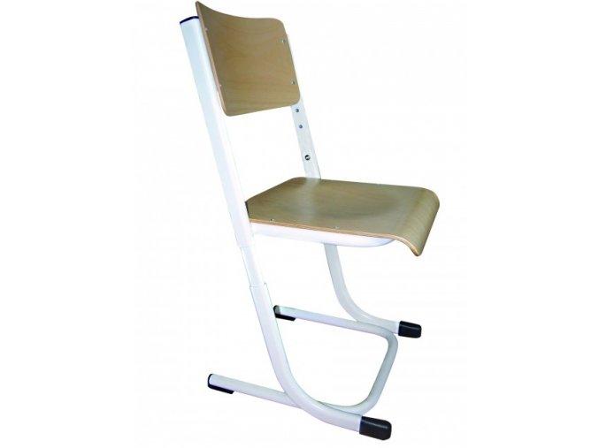 Školní žákovská židle stavitelná, L profil