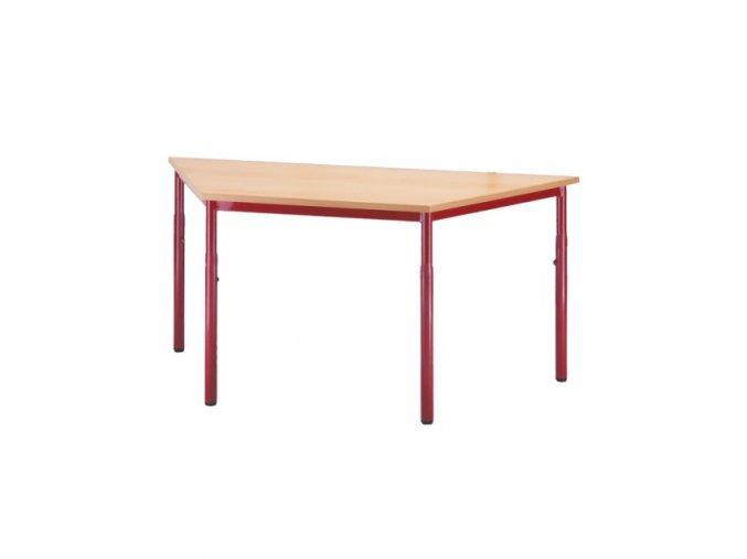 Školní stůl lichoběžník, pevný