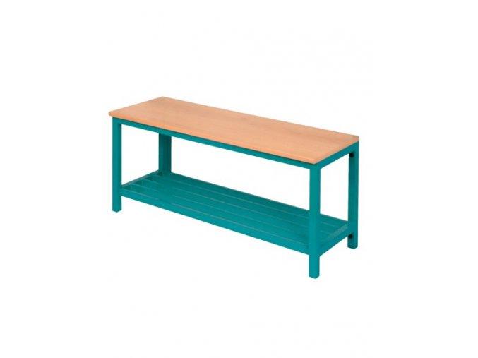 Školní šatní lavička s roštem