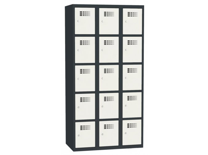 Boxová kovová šatní skříň KAMIL 15, 15 boxů, záruka 5 let