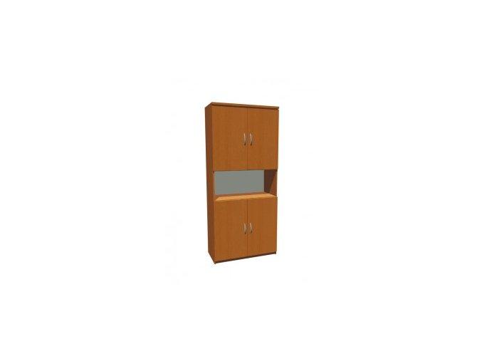 MEDIC 3 čtyřdvéřová zdravotnická skříň, 2 police, 4 dveře