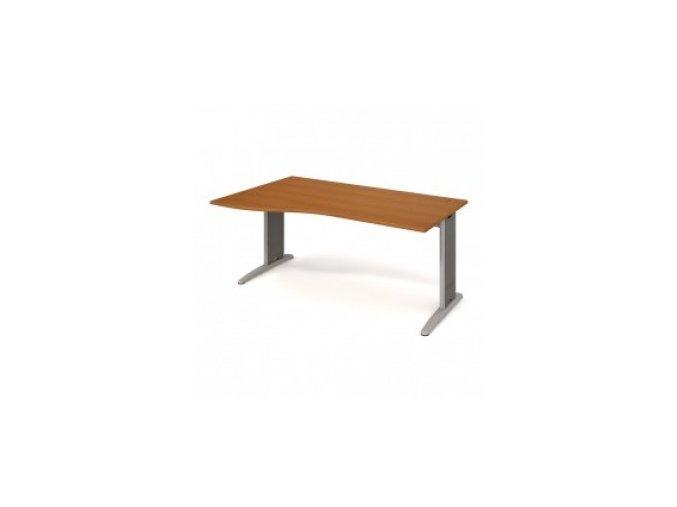 Rohový stůl do ordinace MEDIC 3 180×120 cm, levý kovová podnož