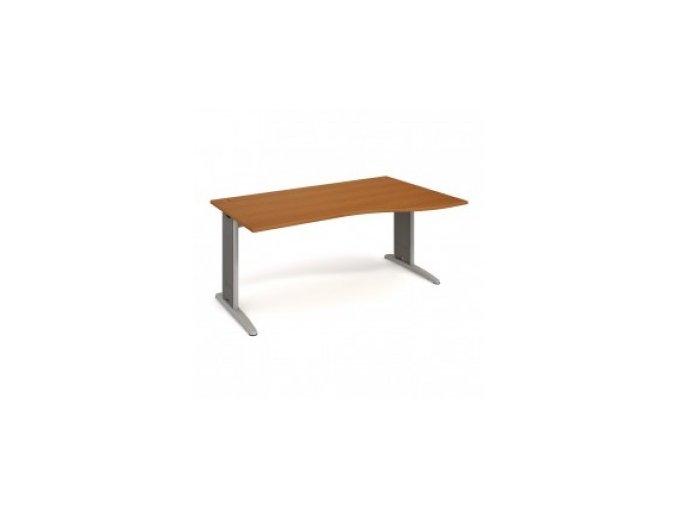 Rohový stůl do ordinace MEDIC 3 160×120 cm, pravý kovová podnož