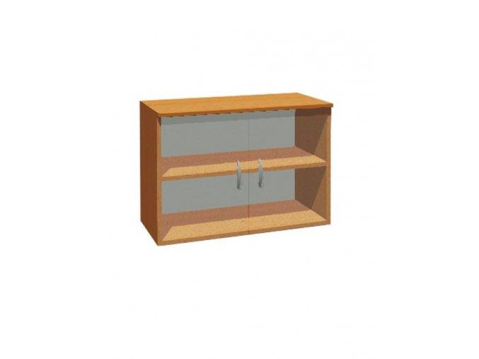Školní skříň závěsná dvoudveřová prosklená ADAM
