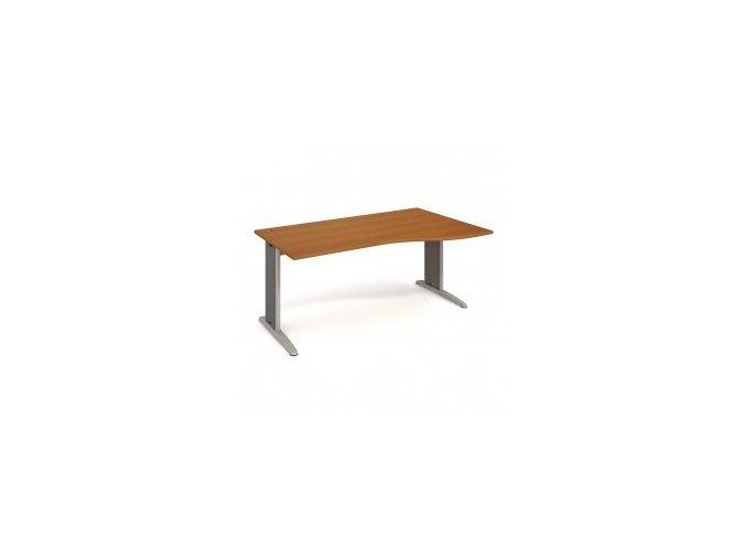 Rohový stůl do ordinace MEDIC 1 kovová podnož 160×120 cm, pravý
