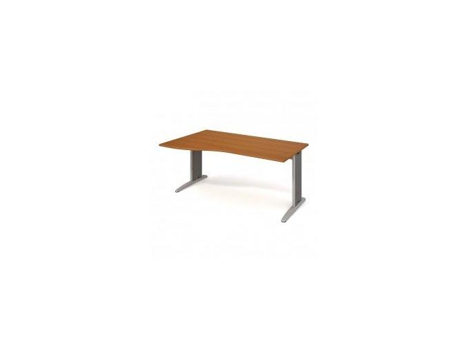 Rohový stůl do ordinace MEDIC 1 kovová podnož 160×120 cm, levý