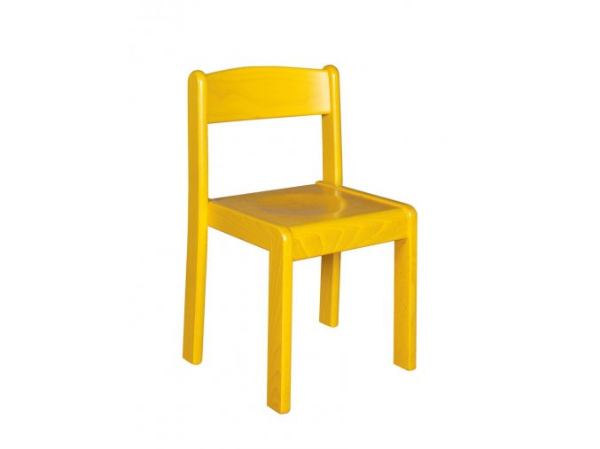 Školní židle dřevěná celomořená ANIČKA 6