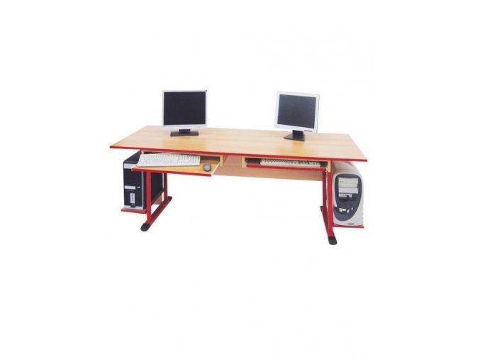 Školní PC stůl pro 2 žáky 1600 mm