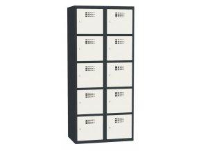 Boxová kovová šatní skříň KAMIL 10, 10 boxů, záruka 5 let