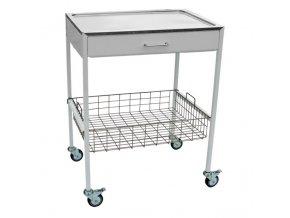 Zdravotnický stolek nástrojový se zásuvkou a košem