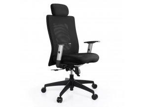 Kancelářská židle ALBA Lexa PDH s područkami černá