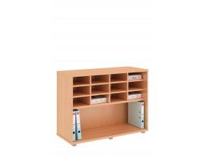 Kancelářská skříň 100 cm policová TREND