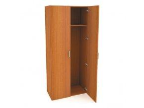 MEDIC 4 dvoudvéřová zdravotnická šatní skříň, 1 police, 2 dveře