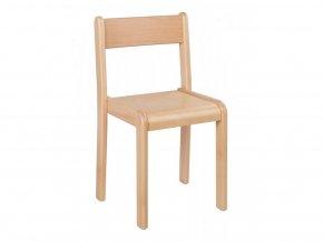 Dětská dřevěná židle ANETKA 2 stohovatelná, velikost 22 cm