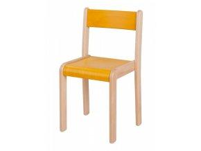 Dětská dřevěná židle mořená HANIČKA 2, velikost 22 cm