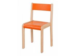 Dětská dřevěná židle mořená HANIČKA 5, velikost 34 cm