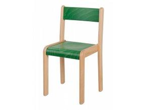 Dětská dřevěná židle mořená HANIČKA 6, velikost 38 cm