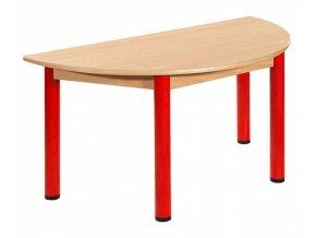 Dětský stůl MÍRA půlkulatý 120x60 cm