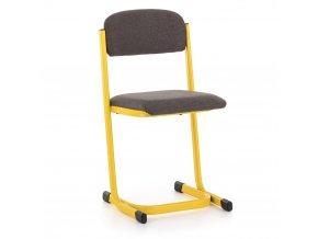 Učitelská židle čalouněná, profil L