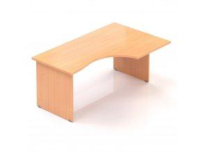 Rohový stůl GAMA na deskové podnoži 160x100 cm, pravý