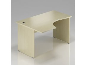 Rohový stůl GAMA na deskové podnoži 180x100 cm, levý