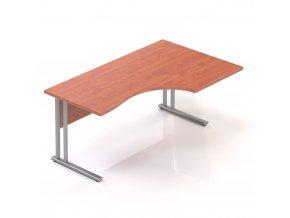 Rohový stůl GAMA na kovové podnoži 160x100 cm, pravý