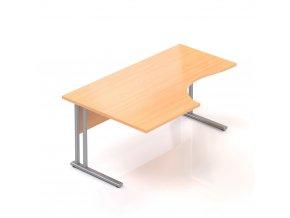 Rohový stůl GAMA na kovové podnoži 160x100 cm, levý