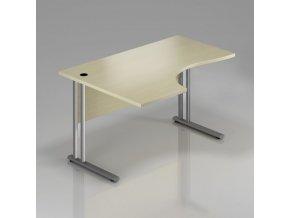 Rohový stůl GAMA na kovové podnoži 180x100 cm, levý