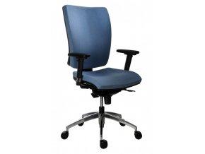 Kancelářská židle ANTARES 1580 SYN Gala ALU s područkami AR 08 C, nosnost 130 kg