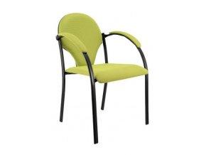 Konferenční židle ALBA NEON s područkami, stohovatelná