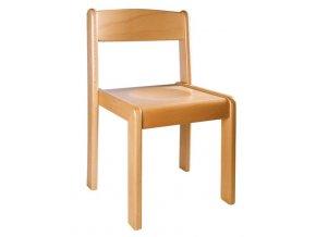 Školní židle dřevěná přírodní NIKOLKA 2