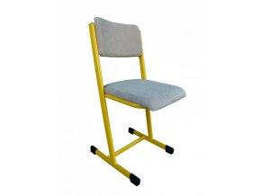 Učitelská židle čalouněná, profil T
