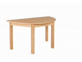 Dětský stůl NATÁNEK půlkulatý 120x60 cm