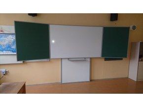 Školní tabule třílistá DUBNO 400x120 cm