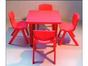 Školní stůl čtvercový pro MŠ, stavitelné nohy