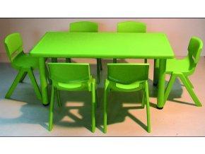 Školní stůl obdélníkový pro MŠ, stavitelné nohy