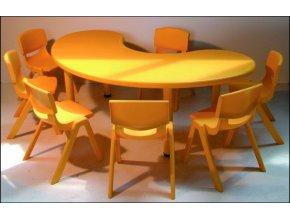 Školní stůl pro MŠ, stavitelné nohy