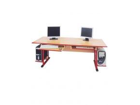 Školní PC stůl pro 2 žáky 1800 mm