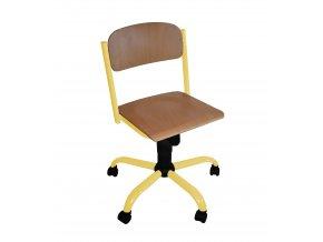 Školní židle na kolečkách