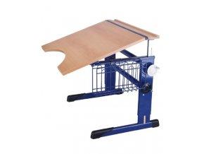 Školní lavice pro tělesně postižené stavitelná bez koše