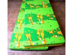 Molitanové lehátko DANDY žirafa zelená