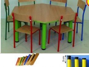 Školní kovový stůl šestihran