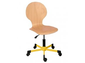 Školní otočná šálová židle na kolečkách