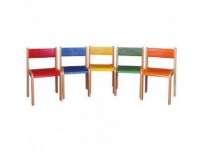 Židle buková stohovatelná s krempou výška 46 cm