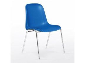 Plastová židle ELENA chrom