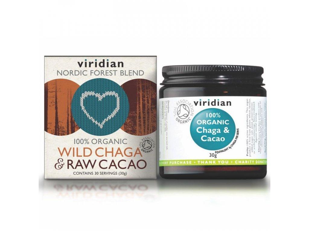 Wild Chaga & Raw Cacao 30g Organic