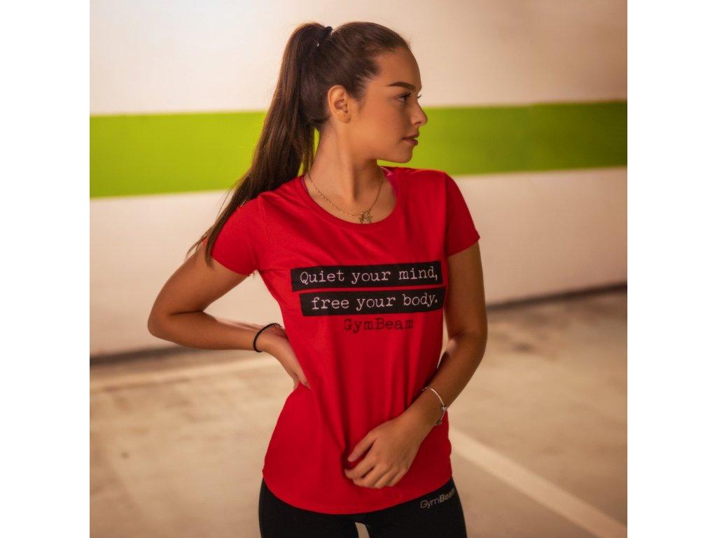 Dámské tričko Quiet Red - GymBeam